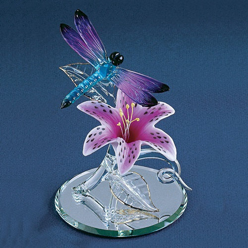 Glass Baron Dragonfly with Lily