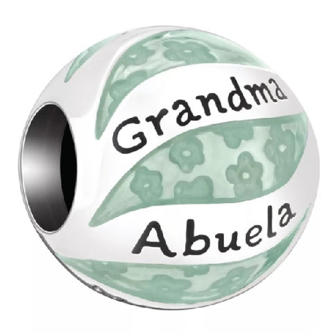 "Chamilia ""Her World"" Charm, Grandma In Many Languages - Ria's Hallmark & Jewelry Boutique"