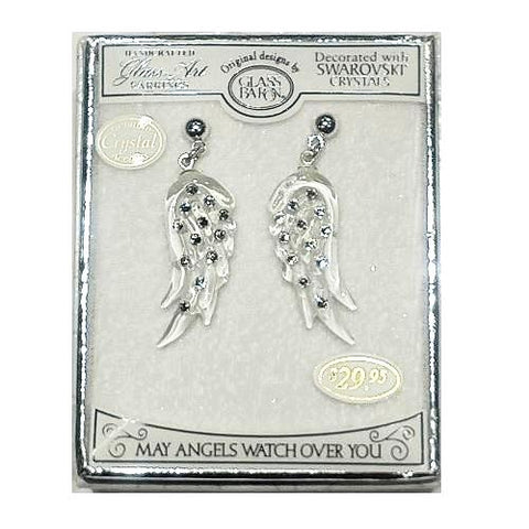 Glass Baron Angel's Earrings