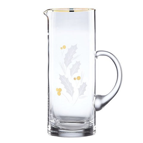 Holiday™ Gold Glass Beverage Pitcher