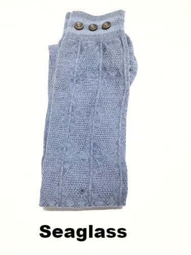 WB Tall Heathered Stripe Button Sock - Ria's Hallmark & Jewelry Boutique - 3