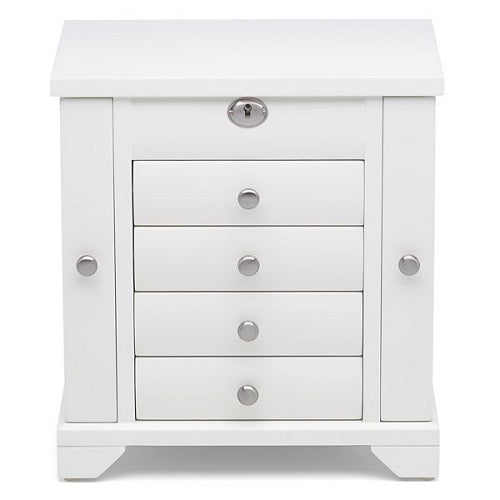 Lea™ Tall White Jewelry Box by Reed & Barton