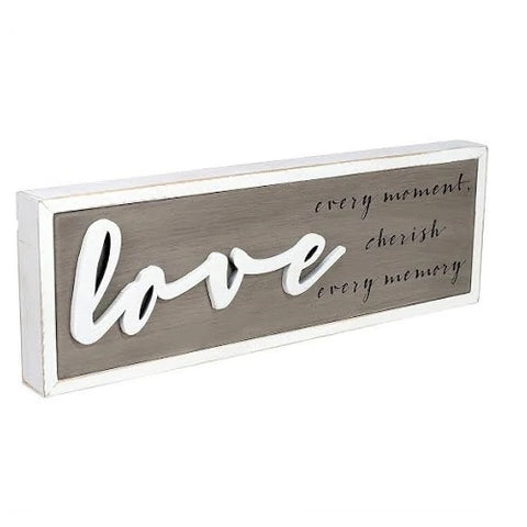 "Malden ""love every moment..."" Box Sign Plaque"