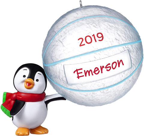 Hallmark 2019 Year Dated Basketball Star Penguin DIY Personalized Ornament