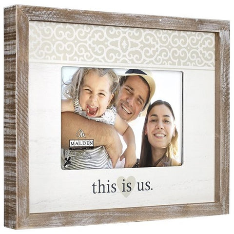 "Malden ""this is us."" Rustic Border Photo Frame"