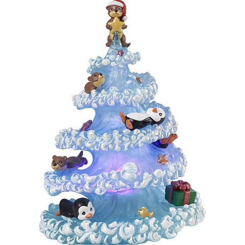 Precious Moments Otter-ly Fun Holidays LED Musical Figurine