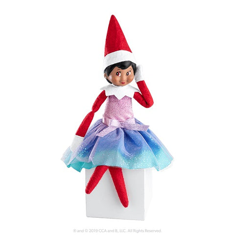 A Christmas Tradition The Elf on the Shelf Girl Dark with Claus Couture Merry Merry Mermaid