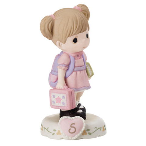 Precious Moments Growing In Grace Age 5 Brunette - Ria's Hallmark & Jewelry Boutique