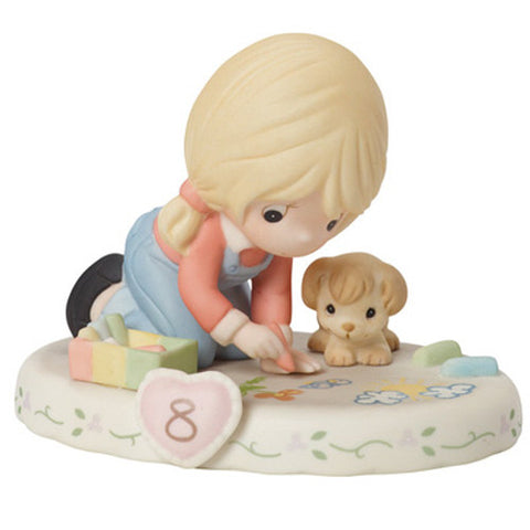 Precious Moments Growing In Grace Age 8 Blonde - Ria's Hallmark & Jewelry Boutique