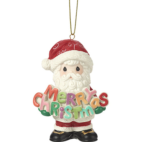 Precious Moments Santa Claus Merry Christmas Ornament