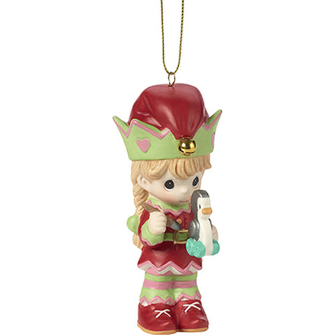 Precious Moments Santa's Workshop Elf Ornament