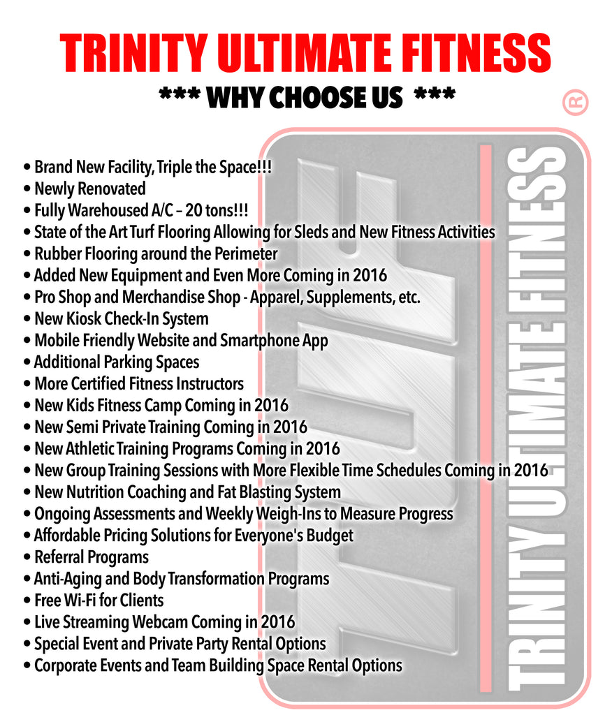 Why Us Trinity Ultimate Fitness