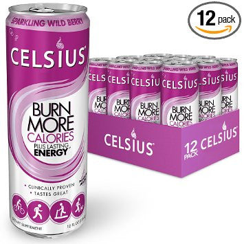 Celsius Sparkling Wild Berry, 12-Ounce (Pack of 12)