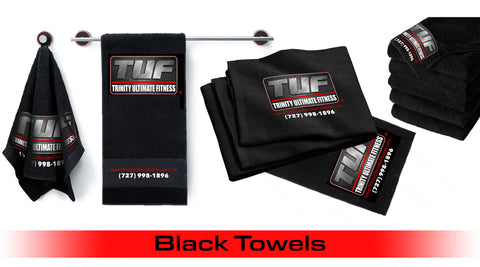 Trinity Ultimate Fitness Black Fitness Towel