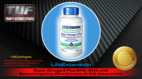 LifeExtension Super Omega-3 Plus EPA/DHA with Sesame Lignans, Olive Extract, Krill & Astaxanthin