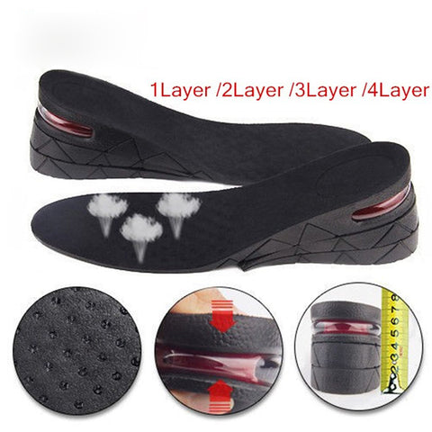Unisex 1.18 to 3.5 inches Heightening Insole - Height Increase Insole Air Cushion Shoe Lift Shoe