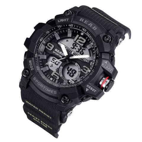 G Style Shock Sanda Waterproof Outdoor Sports Watches Men Quartz Watch Clock Digital Military LED Wrist Watch Relogio Masculino