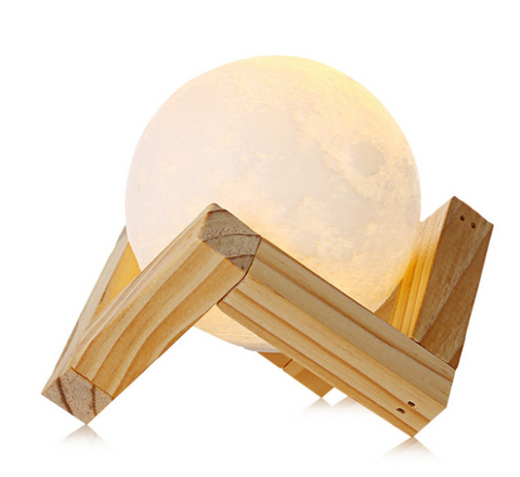 Rechargeable 3D Print Moon Lamp 2 Color Change