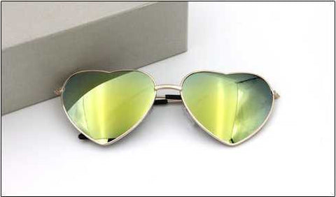 Hot Vintage Peach heart lens Sunglasses Men/women Polarized Gafas Oculos Retro Coating Sun Glasses Round
