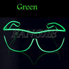 Free shipping Blue el glasses El Wire Fashion Neon LED Light Up Shutter Shaped Glow  Rave Costume Party DJ Bright SunGlasses