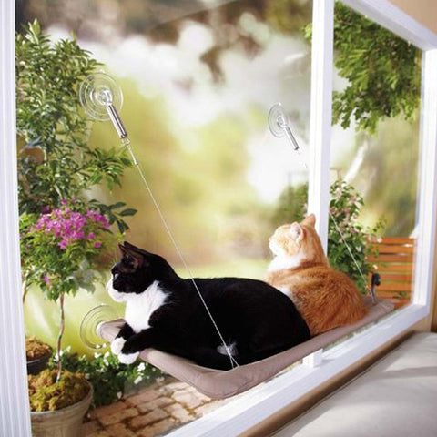 Cat Basking Window Hammock Perch Cushion Bed Hanging Shelf Seat Great For Multiple Cats Of Household