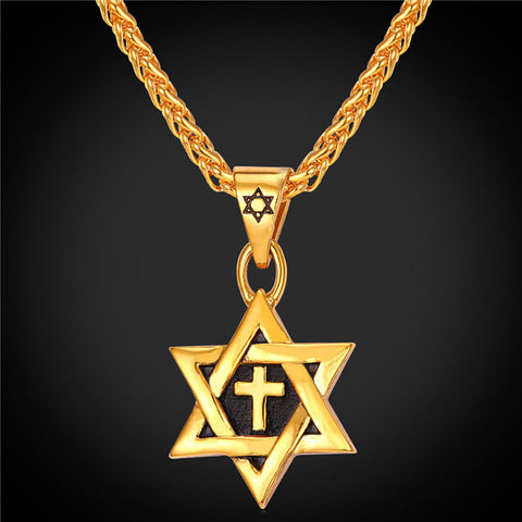 Best Seller! Star of David Cross Pendant & Necklace