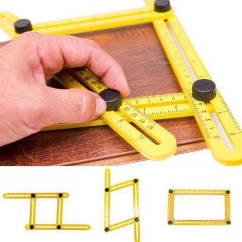 Angle Measure Multi-Angle Ruler Template Tool Measures All Angles Forms Angle-izer for Handymen Builders Craftsmen Repetitive