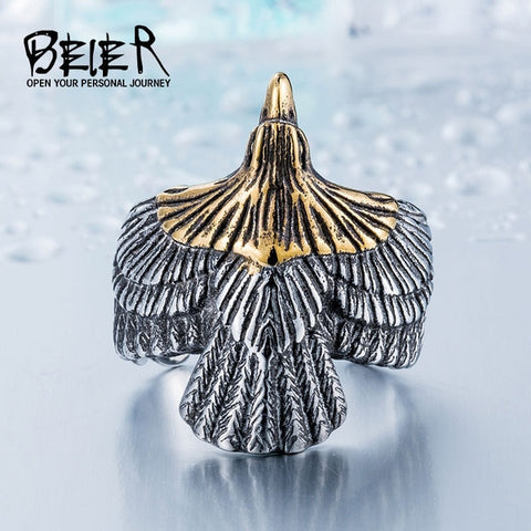 Unique Jewelry Biker Eagle Ring Man's USA Free Animal Jewerly