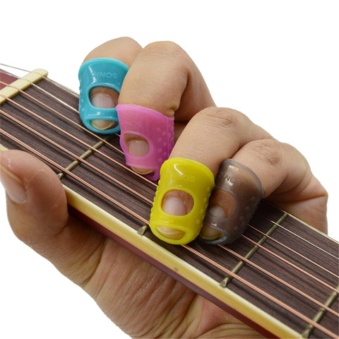 4 in 1 Fingertip Protector Fingerstall Silicone Guitar String Finger Guard