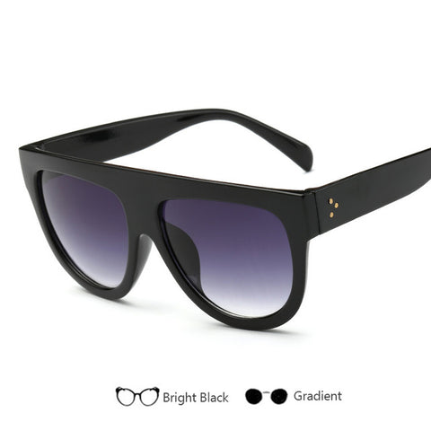 Brand Designer Gradient Lens  Sunglasses Full Frame Shades For Women