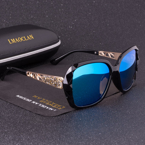 2019 Luxury Brand Design HD Polarized Sunglasses Women Ladies Oversized Square Gradient Sun Glasses Female Eyewear