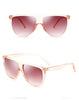 Oversized Square Sunglasses Transparent And Big Frame For Women UV400