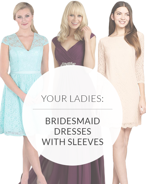 Bridesmaid Dresses With Sleeves: Coverage Can Be Oh-So Chic!