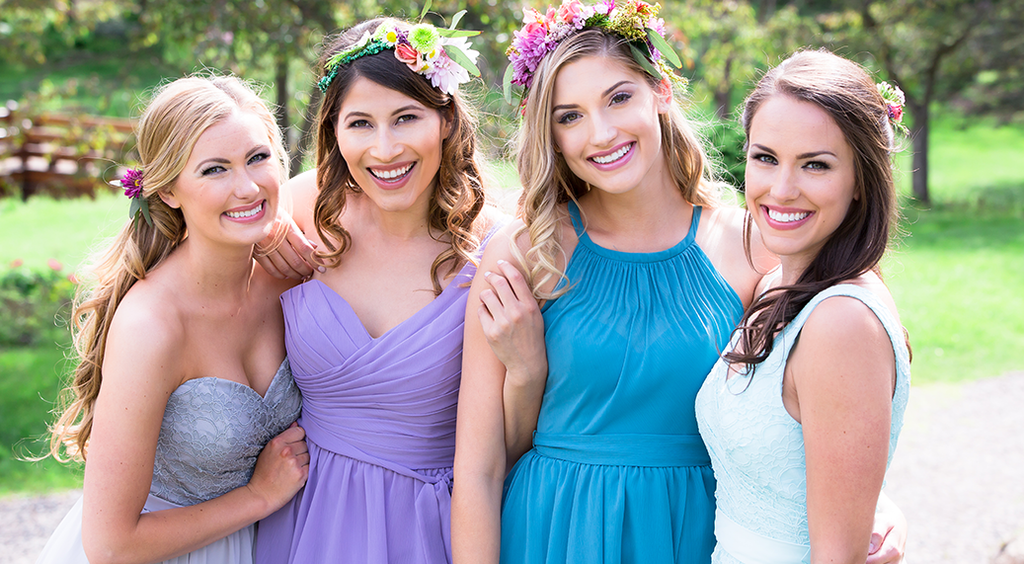 Mismatched Kennedy Blue Bridesmaid Dresses