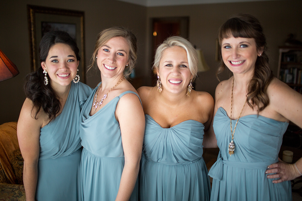 bridesmaids-in-slate-blue-dresses