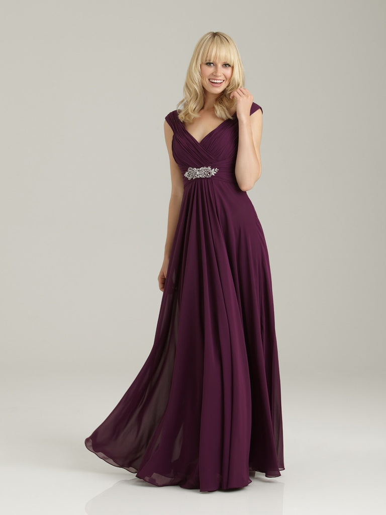 Allure 1334 Long Chiffon Bridesmaid Dress