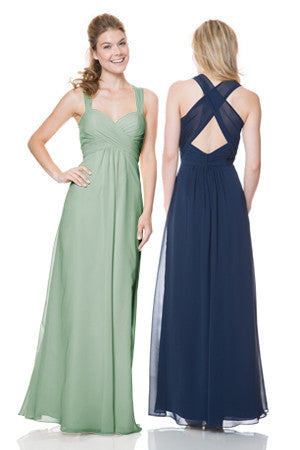 Bari Jay 1508 Long Chiffon Bridesmaid Dress