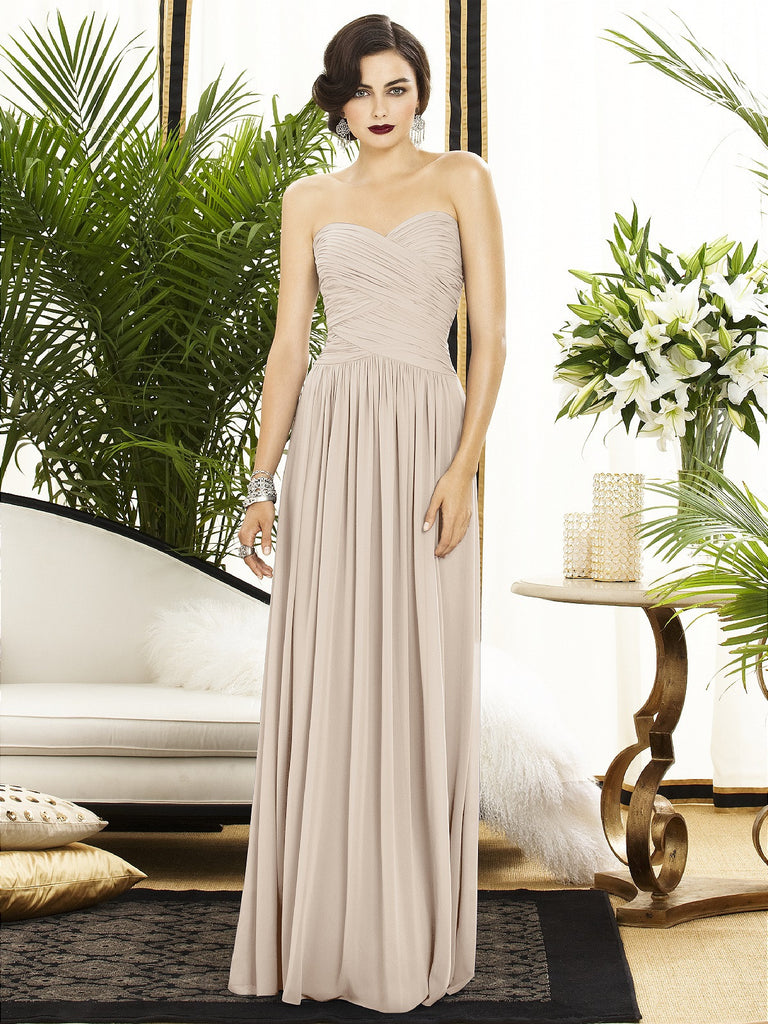 Dessy 2880 Long Chiffon Bridesmaid Gown