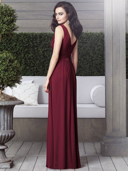 Dessy 2907 Chiffon V-Neck Bridesmaid Dress