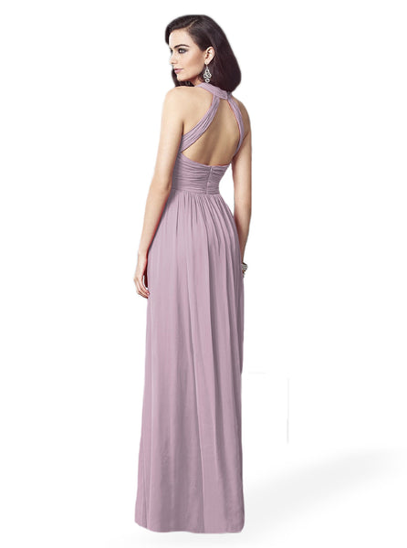 Dessy 2908 Long Chiffon Bridesmaid Dress