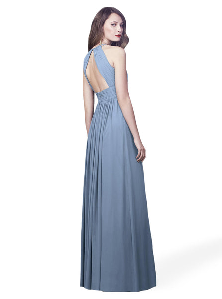 Dessy 2918 high neck bridesmaid dress