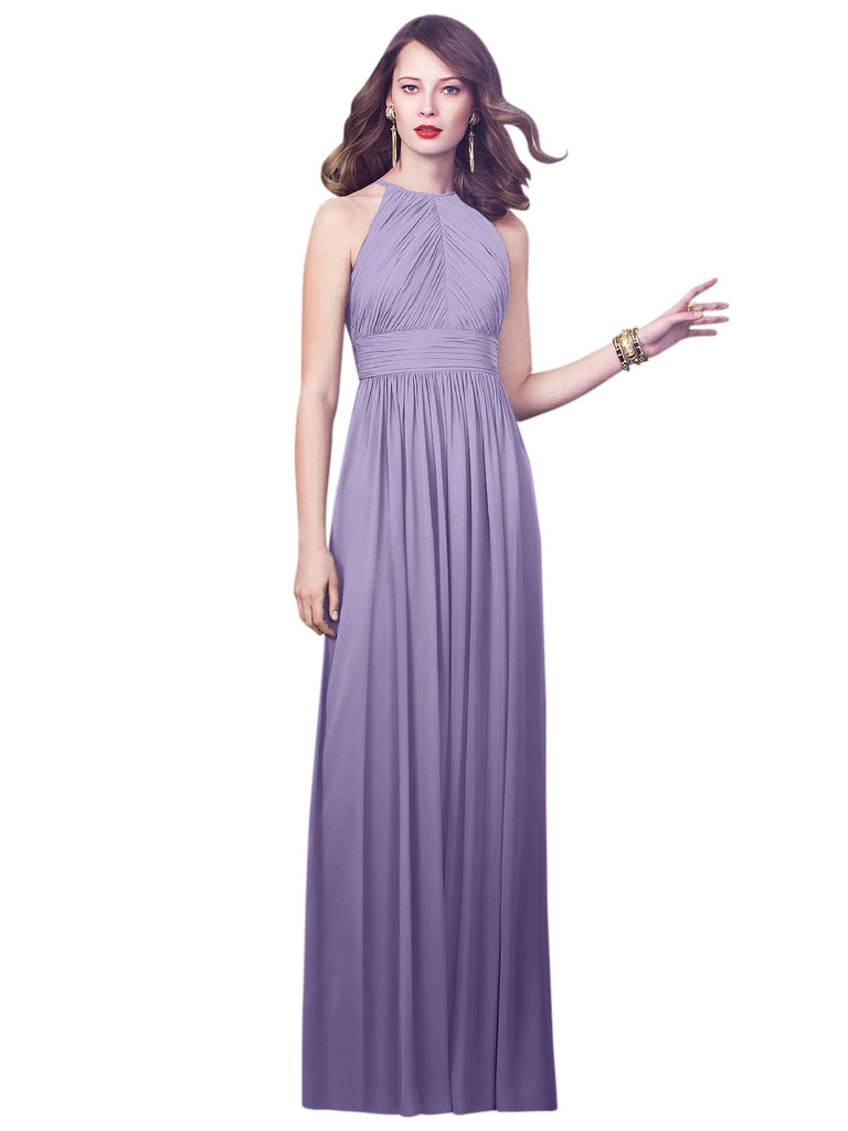 Dessy 2918 Long Chiffon Bridesmaid Gown