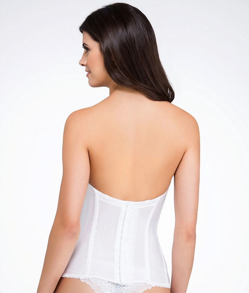 Low-Back Strapless Bridal Bustier | Va Bien 513 Back