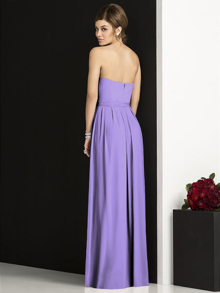 After Six 6678 Long Chiffon Bridesmaid Dress