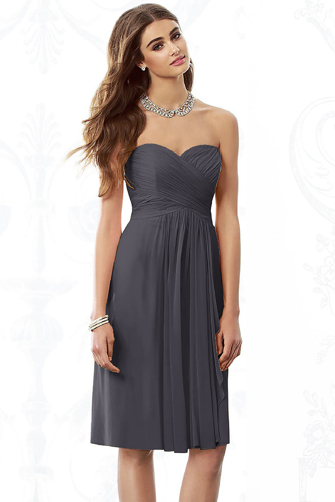 After Six 6695 Short Chiffon Bridesmaid Dress