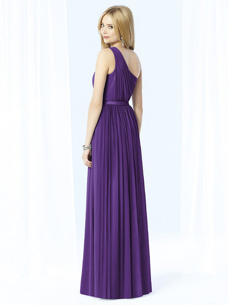 After Six 6706 Long One Shoulder Bridesmaid Dress