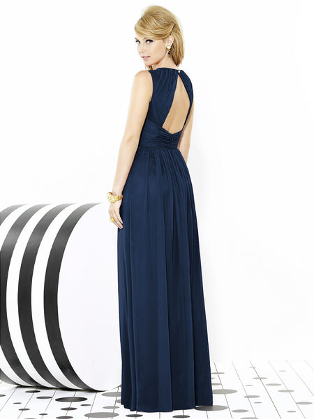 After Six 6709 Long Chiffon Bridesmaid Dress