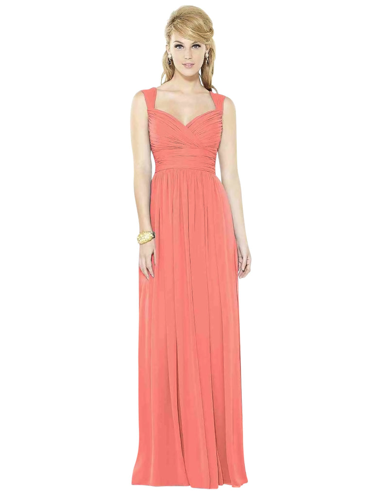 After Six 6712 Long Chiffon Bridesmaid Dress