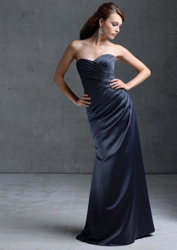 Mori Lee 672 Satin Bridesmaid Dress