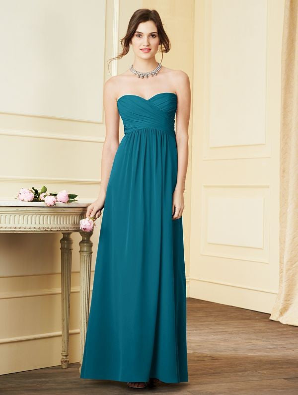 Alfred Angelo 7289L Strapless Chiffon Gown
